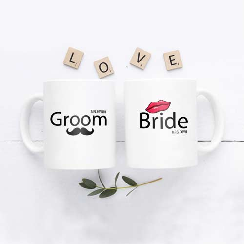Kado Pernikahan Di Shopee - Mug Mewah Custom