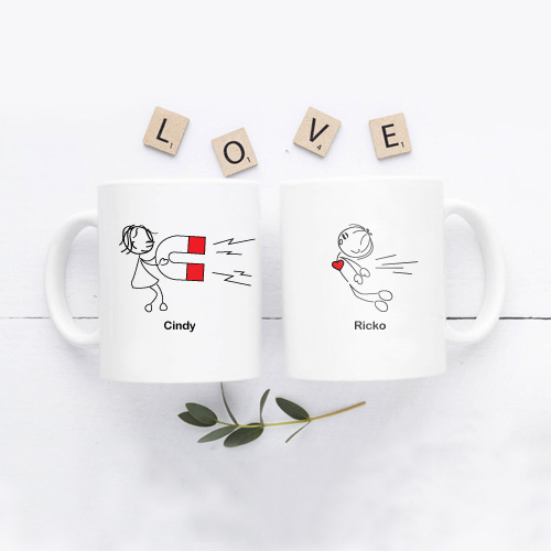 Kado Pernikahan Artis - Mug Couple Custom Design