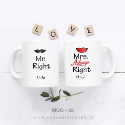 Kado Pernikahan Di Shopee - Mug Couple Custom Design