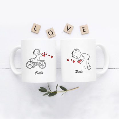 Kado Pernikahan Cikarang - Mug Couple Custom Design