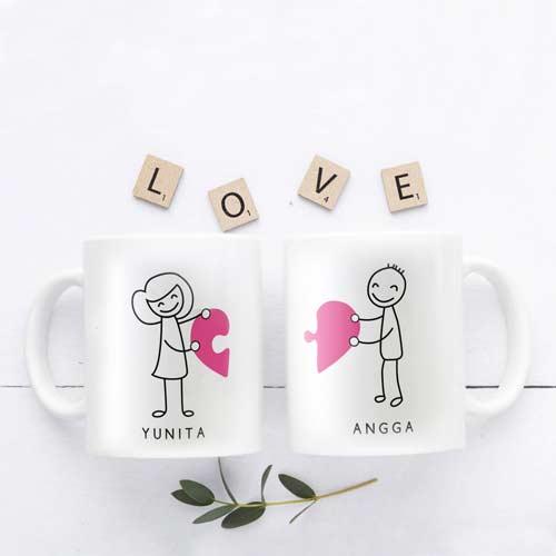 Kado Pernikahan Cikarang - Mug Handmade
