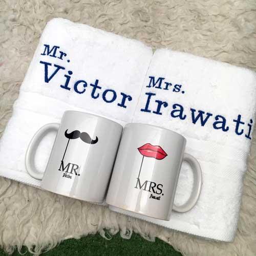 Hadiah Pernikahan untuk Sahabat Perempuan handuk unik