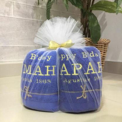 hadiah untuk orang tua tercinta handuk couple custom