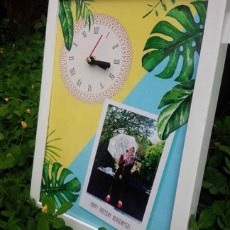 Jual Kado Pernikahan Jam Kayu Custom Frame
