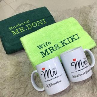 kado pernikahan unik dan bermanfaat paket handuk couple