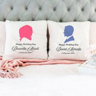 Kado Pernikahan Teman - Bantal Keren Custom Design