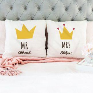 Kado Pernikahan Teman - Bantal Mewah Custom Design