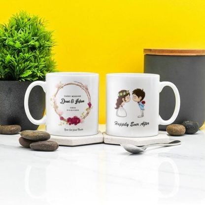 Kado Pernikahan Handmade Mug Couple