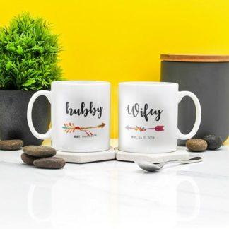 mug couple hubby wifey keramik