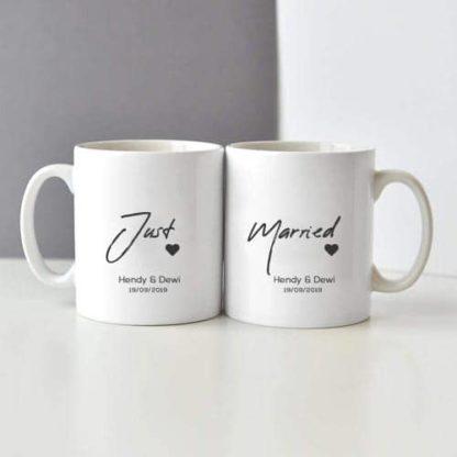 kado pernikahan couple mug cantik couple