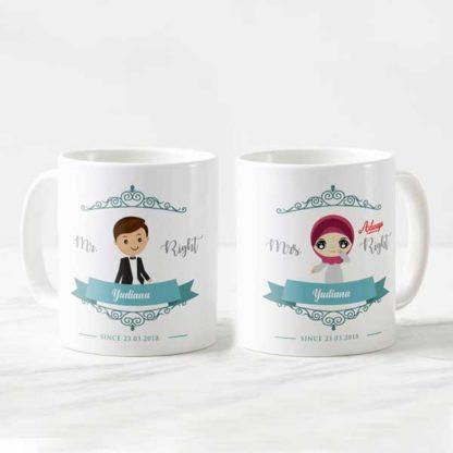 Kado Pernikahan Buat Kakak - Mug Kreatif Custom Design