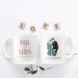 Kado Pernikahan Cantik - Mug Unik