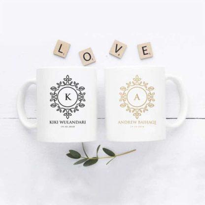 Kado Pernikahan Handmade berupa Mug Cantik