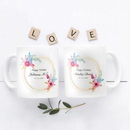 Kado Pernikahan Teman Mug Handmade