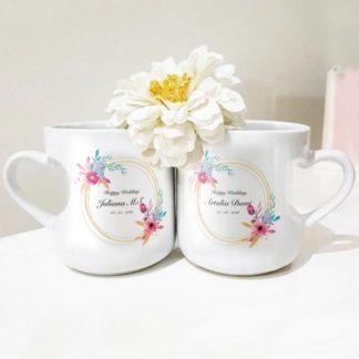 Kado Pernikahan Buat Kakak - Mug Couple Custom Design