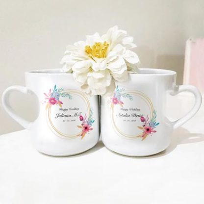 Kado Pernikahan Buat Kakak - Mug Couple Custom Design