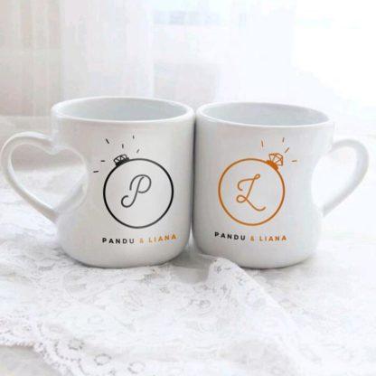 Kado Pernikahan Custom Mug Couple