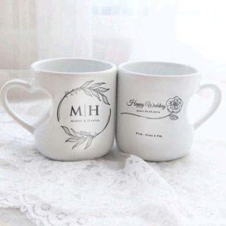 Kado Pernikahan Teman Mug Custom
