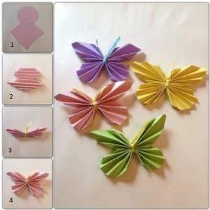 Kupu-Kupu Dari Kertas Origami