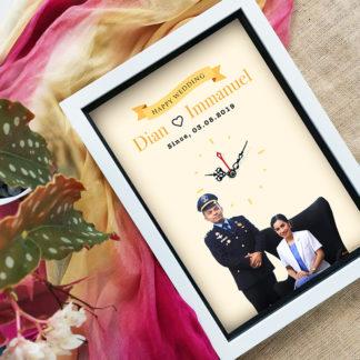 Jam Custom Spesial Kode FR-06 | Rekomendasi Kado Pernikahan