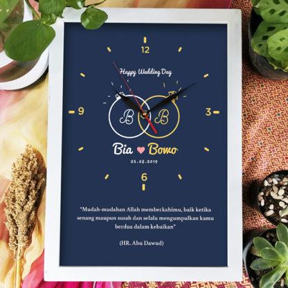 Jam Custom Frame Kode FR-13 | Kado Yang Bagus Buat Pernikahan