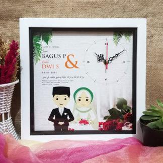 Jam Foto Custom Unik Kode HS-02 | Kado Pernikahan Islami