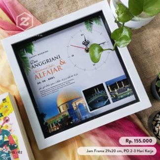 Jam Foto Custom Kode HS-02 Kado Pernikahan Islami