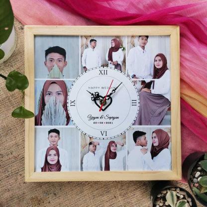 Jam Custom Frame Kode JM-13 | Hadiah Yang Cocok Untuk Pernikahan