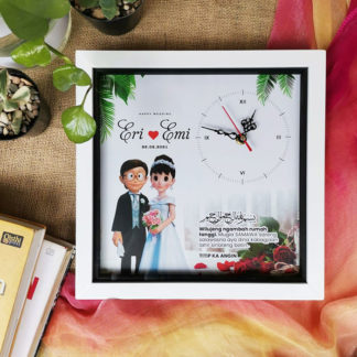 Jam Custom Frame Kode SPC-125 | kado pernikahan islami