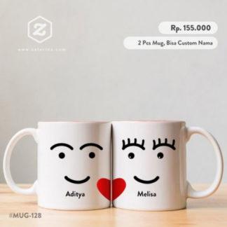 Kado Pernikahan Mug Couple Unik Lucu